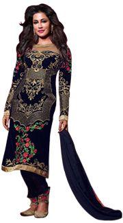 Buy Black Georgette Pakistani Salwar Kameez 42763 online at lowest price from huge collection of salwar kameez at Indianclothstore.com.