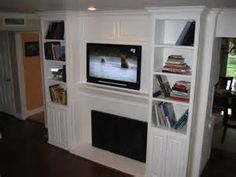 marvelous modern wall mounted fireplace - Flat Screen TV Over Fireplace Ideas.