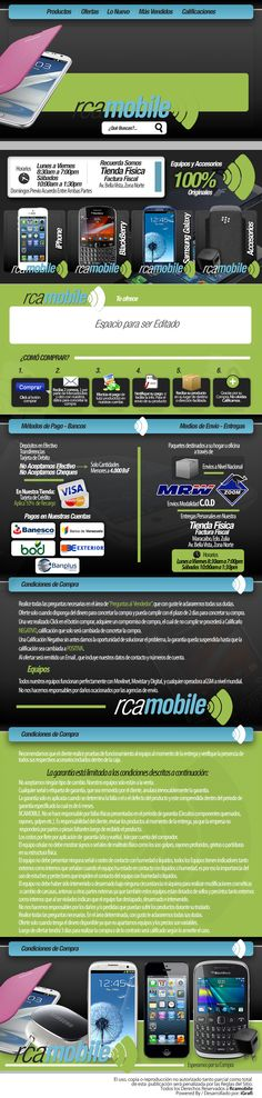 Cliente RCA Mobile. Venta de celulares. Creación 2013 / Diseño elaborado por iGrafi. Visítanos: www.igrafi.com   Síguenos en Twitter: @iGrafi Oficial / Facebook: https://www.facebook.com/IGrafi