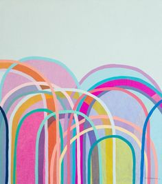 Little Hills - ANTOINETTE FERWERDA #colorful #abstract #art