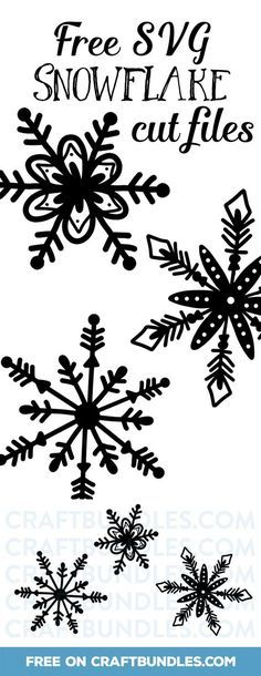 Free SVG Snowflake Cut Files