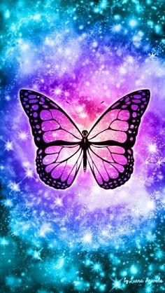 Butterfly Bling Galaxy Wallpaper #androidwallpaper # ...