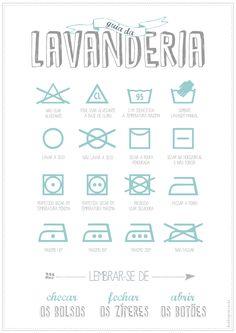 Ideias para decorar a área de serviço + poster guia da lavanderia