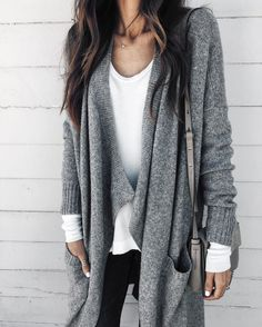 Layered White & Gray Sweater