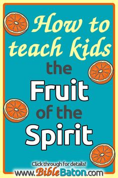 Free printable lesson plans to teach kids the Fruit of the Spirit in your children's ministry, Sunday School class, or VBS program. These fun and easy Bible lessons are simple for you as the teacher, and hands-on Bible Lessons For Kids, Bible For Kids, Youth Lessons, Scripture Memorization, Bible Verses, Bible Study Guide, How To Teach Kids, Fruit Of The Spirit, Object Lessons