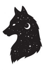 Silhouette of wolf with crescent moon and stars isolated. Sticker, black work, print or flash tattoo design vector illustration. Kawaii Drawings, Art Drawings Sketches, Animal Drawings, Easy Drawings, Pencil Art Drawings, Wolf Drawings, Wolf Drawing Easy, Moon Drawing, Wolf Sketch Easy