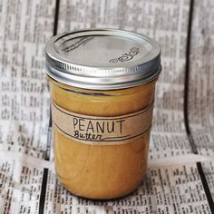 Food Processor + Dry roasted Peanuts + bit of Salt = Homemade Peanut Butter