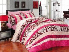 Комплект красивого постельного белья Altinbasak Clasico Pembe