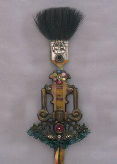 ASSEMBLAGE ART DOLL - Found object art doll, Art doll wall art - Jewel