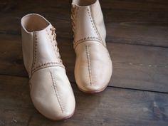 Staraya Ladoga shoes, type III, Oyateva.  Shoes from Staraya Ladoga, type III, VII-IX centuries.  Vegetable-tanned leather