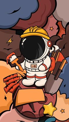 Pin by Karthik Nair on wallpapers in 2021 | Astronaut wallpaper, Cartoon wallpaper hd, Cartoon wallpaper