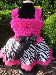 Hot Pink and Zebra Print Set  Pettiskirt and Petti Top by FabTutus, Def need the skirt for Ady's party!!!