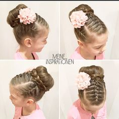 Best Picture For flower girl hairstyles with wreath For Your Taste You are looking for something, an Kids Updo Hairstyles, Ballet Hairstyles, Girls Hairdos, Flower Girl Hairstyles, Little Girl Hairstyles, Girls Updo, Teenage Hairstyles, Medium Hair Styles, Curly Hair Styles