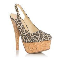 Justfab Pumps Leopolda ($40) ❤ liked on Polyvore featuring shoes, pumps, apparel & accessories, print, slingback pumps, animal print shoes, platform stilettos, platform shoes and high heel shoes