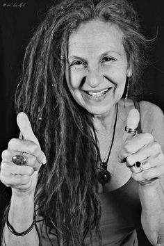 I love seeing older women rockin' the dreads!