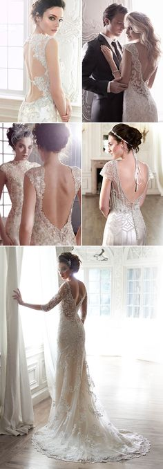27 Wedding Dresses with Stunning Back Details from 2015 Bridal Market - Maggie Sottero!