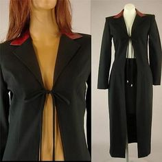 1970s Black Coat Cape Red Snake Skin Faux Lapel Collar by BREAKIN LOOSE size 5/6 $39.99 #FreeShipping #vintage #fashion #ebay #followfindit  A gift for your vintage lady!