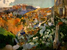 La joia, Aleixar, date unknown - Joaquin Mir Trinxet (1873-1940), a Catlonian painter who specialized in landscapes.