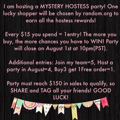 Mystery Hostess Party idea picture www.mythirtyone.com/tfjohnson