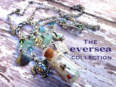 EVERSEA Forever Jack Message in Bottle Circle of Love Sea Turtle Necklace on Etsy, $51.00