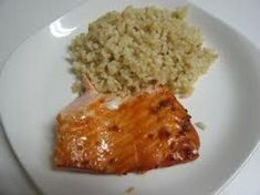 For the teriyaki sauce, simply combine all the ingredients. Grill the salmon to your liking and pour the sauce over the fish & cauliflower. Cauliflower Rice: Put the cauliflower through your food processor, using the shredding blade to give a texture like rice. Steam it for 5 mins.