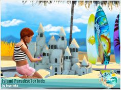 Sims 4 CC's - The Best: Island Paradise for kids by Severinka