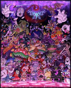 See more 'Nintendo' images on Know Your Meme! Super Smash Bros Brawl, Super Smash Bros Characters, Nintendo Super Smash Bros, Super Smash Ultimate, Super Mario Art, Cartoon Crossovers, Gif Animé, Video Game Art, Anime
