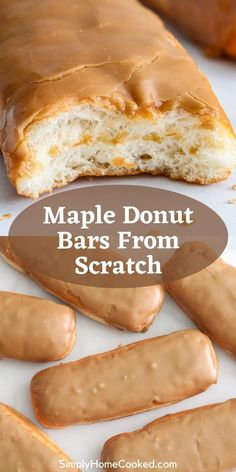 Gourmet Donut Recipe, Donut Recipes, Pastry Recipes, Gourmet Recipes, Sweet Recipes, Maple Dessert Recipes, Fun Baking Recipes, Easy Desserts, Delicious Desserts