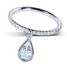 @Overstock - Diamond band and dangle14-karat white gold jewelry Click here for ring sizing guidehttp://www.overstock.com/Jewelry-Watches/14k-White-Gold-4-5-ct-TDW-Diamond-Dangle-Ring-H-I-SI1-SI2/7671653/product.html?CID=214117 $1,399.99