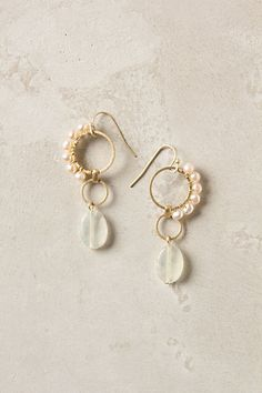 Crested Pearl Earrings #anthropologie To go with my grandmother's single strand pearl necklace she wore on her wedding day?