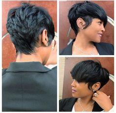 Best Short Pixie Hairstyles for Black Women 2018 – 2019 - Short hair cuts - Hair Designs Short Black Hairstyles, Pixie Hairstyles, Pixie Haircut, Straight Hairstyles, Braided Hairstyles, Teenage Hairstyles, Layered Hairstyles, African Hairstyles, Short Sassy Hair