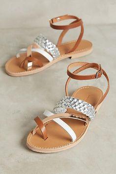 Giovanetti Woven Metallics Sandals