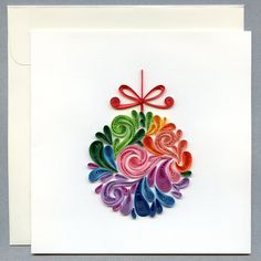 Ornament Quilling Card