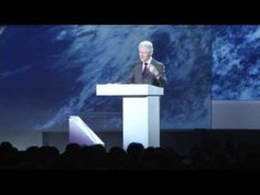 """In a speech at the Consumer Electronics Show, former President Bill Clinton outlined the importance mobile technology but also talked about political issues like gun control calling the availability of high-capacity gun magazines """"nuts."""" (Jan. 9)"""