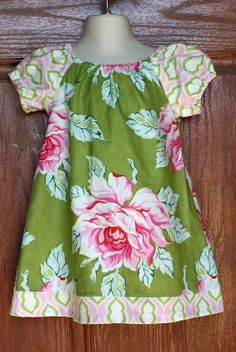 Girl Peasant Dress in Heather Bailey Nicey Jane by AlmaExpressions, $28.00