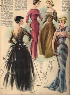 Rigas Modes (1957-1958) love vie these vintage patterns and sketches