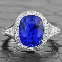 Exceptional 6.90 Carat Sapphire and Diamond Ring $69,999.00