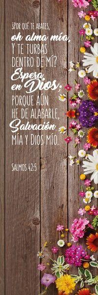 "Separador ""Espera en #Dios"" | Luciano's Books #Versiculos #Salmos 42:5 #Biblia"