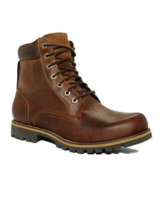 Crafted from mostly recycled materials, these waterproof men's boots from Timberland are handsomely stylish and environmentally friendly to boot.   Upper: leather; Lining: leather man made; Outsole: