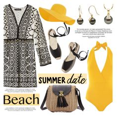 """Summer Date: The Beach"" by pearlparadise ❤ liked on Polyvore featuring Antik Batik, Lazul, Accessorize, Soludos, beach, contestentry, summerdate, pearljewelry and pearlparadise"