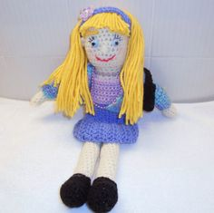 Crochet Dress Up Doll by thecrafter on Etsy, $25.00