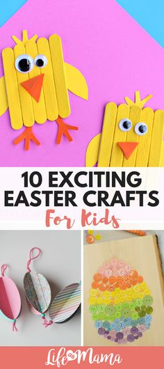 Fun Easter Crafts for kids. #easter #eastercrafts #bunnycrafts #eastereggs #eastereggcrafts #activitiesforkids #springcrafts #daycareideas