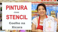 PROJETO | PINTURA COM STENCIL - COELHO NA XÍCARA | 10.03.17 | MAYUMI TAK...