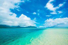 ハワイ 天国の海の幻のビーチ、サンドバー 青空とエメラルドグリーンの海に浮かぶ、白いサンゴ砂浜 - NAVER まとめ