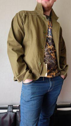 Men's PARKA Jacket, Vintage 90s Coat KHAKI MILITARY Camouflage Green Ligthweight Cotton Blazer Army Surplus Hunter Outerwear size Large L by RAGMAN770 on Etsy