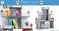 Etagère en bois La citadelle du chevalier Little Big Room by Djeco - Chambre Arthur