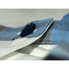 Aloÿs tunique encolure carrée bleu bébé cadeau de naissance