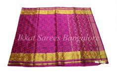 Handwoven Ikkat Patola pure silk saree in wine colour. Code: ISB7006 Write to ikkatsareesbangalore@gmail.com or inbox the message. Contact : +918792177606