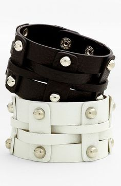 Cara Wide Woven Leather Bracelet