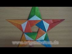 Primavera (Teil 2), Origami-Blüte mit Geschenkpapier zweilagig falten (Carmen Sprung) - YouTube